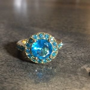 Teal Stone Ring Size 8